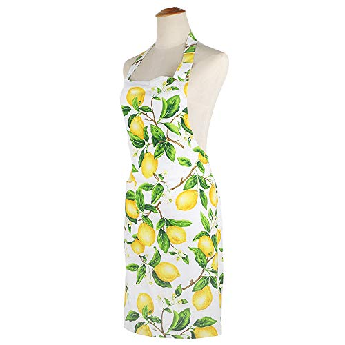 Thin Summer Cotton Women's Kitchen Apron Adjustable Cooking Baking Garden Chef Apron with Pocket Great Gift for Wife… 2