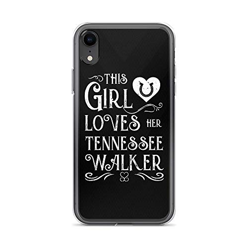 (iPhone XR Pure Clear Case Cases Cover This Girl Lover Her Tennessee Walker Horse TPU Plactic Compatible Cover)