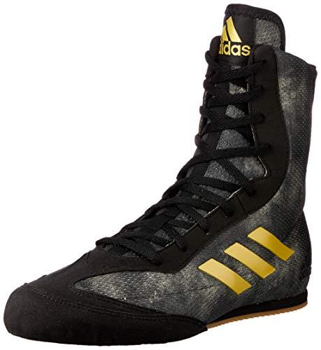 (adidas Box Hog Plus Mens Boxing Trainer Shoe Boot Black/Gold - US 8.5)