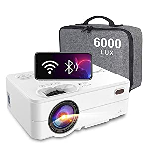 Artlii Enjoy 2 Projector Wifi Bluetooth Outdoor Projector 6000 Lumen Full HD 1080P Support Mini Portable Projector…