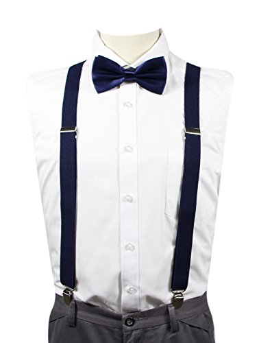 MENDENG Mens Mixed Stripe Y Back Suspenders Adjustable Braces Elastic Strap