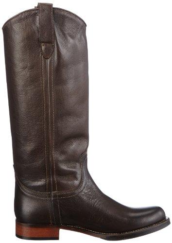 mujer marrón marrón para HiPP oscuro botas marrón oscuro cuero D1810 w8qwxp6YP