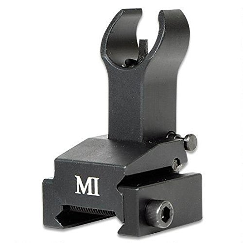 Midwest Industries Flip-Up Front Sight Gas Block Height, Black (Pivot Block Front Aluminum)