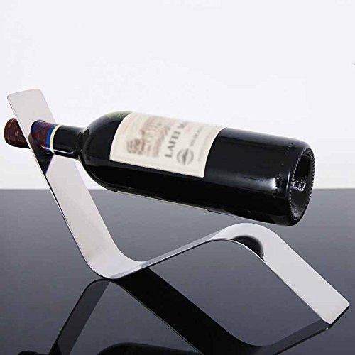 Amazon.com: eDealMax metal Domésticos de Cocina serpiente en forma de botella de vino del sostenedor del estante Permanente tono de plata: Kitchen & Dining