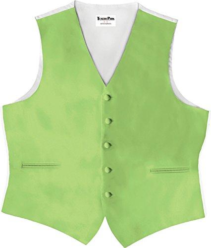 Tuxedo Vest Lime Satin - 7
