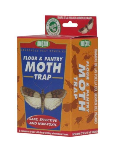 BioCare | Superior Clothes Moth Traps with Pheromone Lures (Contains 4 Complete Traps) | Non-Toxic & Pesticide Free | Child & Pet Friendly| Made in USA
