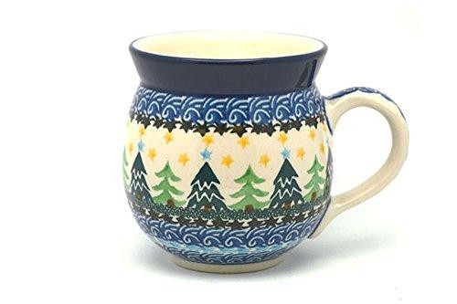Polish Pottery Mug - 11 oz. Bubble - Christmas Trees