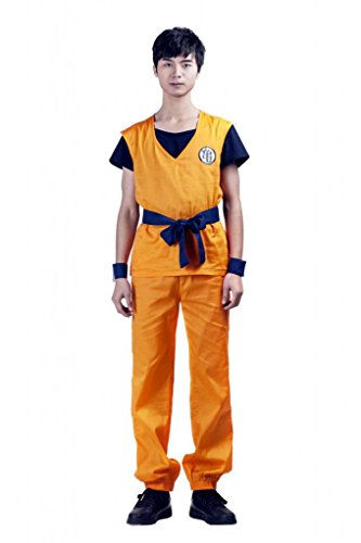 Mtxc Men's Dragon Ball Cosplay Costume Son Goku 1st Ver Size Small Orange (Gohan Cosplay Costume)