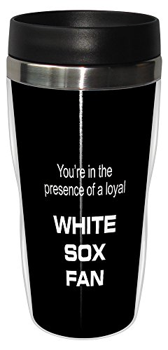 - Tree-Free Greetings sg24082 White Sox Baseball Fan Sip 'N Go Stainless Steel Lined Travel Tumbler, 16-Ounce