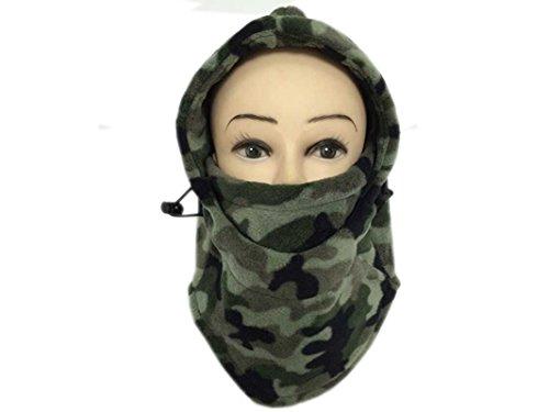 - Multifunctional Camouflage Thinkened Double Deck Fleece Hat Mask Headgear Hat Scarf Velvet Cap Warm Face Riding Hood for Men and Women