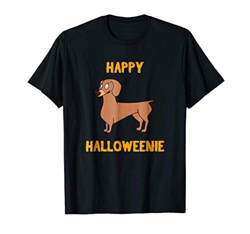 Happy Halloweenie Shirt - Dachshund Halloween Weiner Dog
