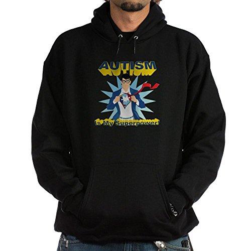 CafePress Autism is My Superpower! Hoodie (Dark) Pullover Hoodie, Classic & Comfortable Hooded Sweatshirt Black ()