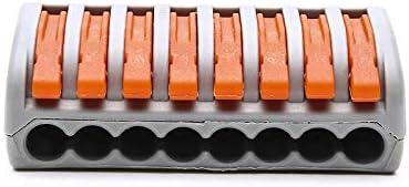 lot de 100 222-412 bornes de c/âblage universelles compactes,mini connecteurs rapides /à pousser 2 entr/ées