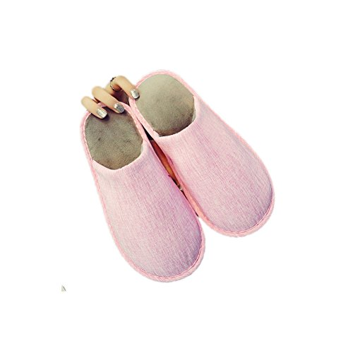 Summer Linen Home Women Fabric Slippers TELLW Fall Men Mute Cotton Pink Spring Floor Female Skid Anti Cool Bottom Couple Slippers Indoor for Flax Wooden Soft 5qFg0Fwv