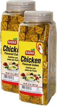 Badia Chicken Bouillon Powdered Cubes 32 oz Pack of 2 by Badia