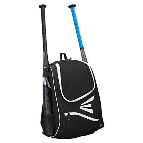 EASTON E50BP Bat & Equipment Backpack Bag | Baseball Softball | 2019 | Red | 2 Bat Sleeves | Large Gear Compartment | Zippered Valuables Pocket | Fence Hook for Dugout Functionality