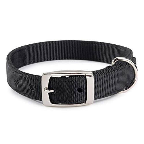 Guardian Gear 24-Inch Double-Layer Nylon Dog Collar, Black