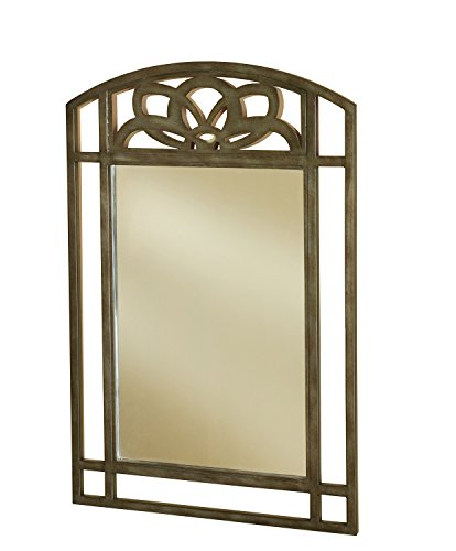 Hillsdale Furniture 5497-886 Marsala Console Mirror Accents, Gray with Brown Rub/Glass Finish