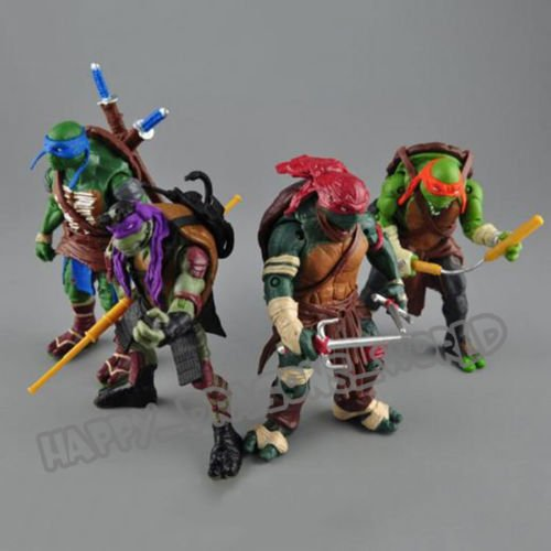 Teenage Mutant Ninja Turtles Movie Classic Action Figures 4 Pcs TMNT Toy Dolls (Teenage Mutant Ninja Turtles Bad Guys)