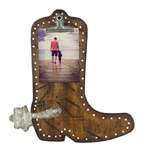 Young's Inc Wood Cowboy Boot Photo Clip