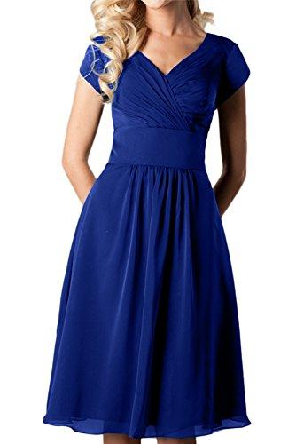 Topkleider trapecio 46 real para mujer azul Vestido wwxrFY8