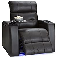 Palliser Mirage Leather Home Theater Power Recliner with In-Arm Storage and USB Charging, Brown