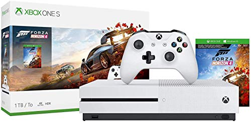 Microsoft Xbox One S 1TB/2TB Forza Horizon 4 Bonus Bundle: Forza Horizon 4,  Xbox Wireless Controller, Xbox One S 4K HDR Console - White One S Gaming