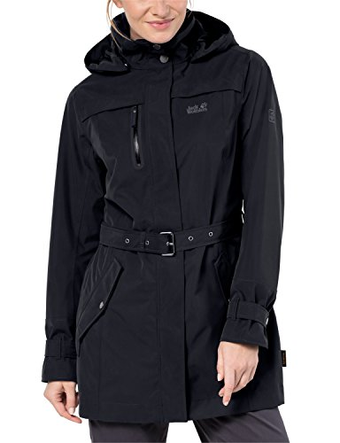 Jack Wolfskin Manteau Trench Coat noir