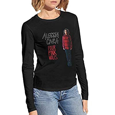 Alessia Cara Women Long Sleeve T Shirts Novelty Cotton Graphics Shirt