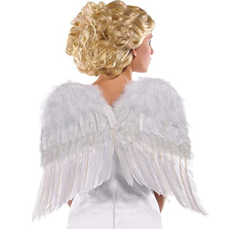 AMSCAN White Angel Wings Halloween Costume Accessories for
