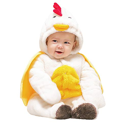 Rest-Eazzzy Unisex Baby Flannel Romper for Winter & Autumn, Adorable Kids Animal Costumes Outfit Homewear, Chicken -