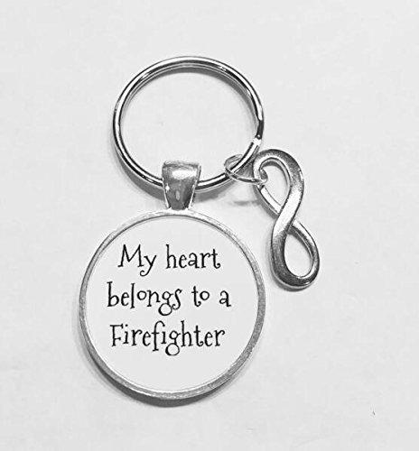 Bombero Esposa llavero, mi corazón pertenece a un bombero ...