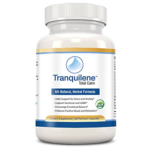 Tranquility Labs Tranquilene Total Calm Stress and Anxiety Relief All Natural Herbal Supplement with Ashwagandha, Bacopa and B-Complex - 60 Capsules