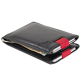 Moon Glory RFID Blocking Credit Card and Money Clip Leather Front Pocket Wallets