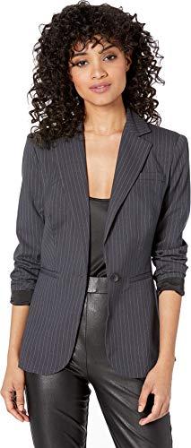 (bebe Womens Pinstripe Oversized Blazer Gilly Pinstripe 6)