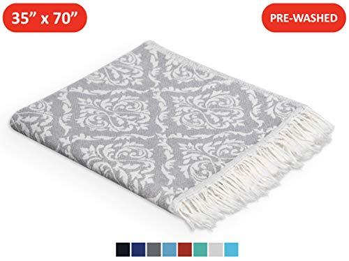- Anatolia Towel Oriental Turkish Towel - Quick-Dry, Sand-Free, Beach Towel, Peshtemal, Fouta, Bath Towel, Pareo, Sarong, Throw - 100% Turkish Cotton, Hand-Loomed, Reversible, 35