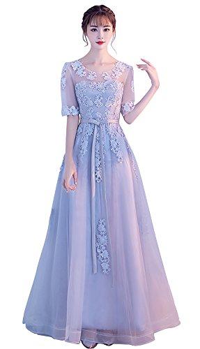 寝室を掃除するバーストレイプリンセス衣装 パーティードレス 二次会 発表会 sweet 演奏会 結婚式 ロング 袖あり 優雅 カラー ブライズメイド ウェディングドレス