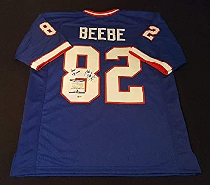 New Don Beebe Bills Autographed Signed Jersey COA Beckett 100% Real Auto  for cheap