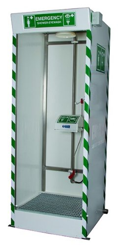 Hughes Safety Showers STD-SD-32K W/EW & SS Cubicle with S...