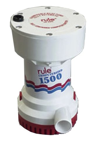 - Rule 51S Marine Rule 1500 Automatic Bilge Pump (12-Volt),White/Red