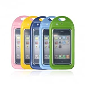 Waterproof Touch Screen Hard Case For iPhone 4 4S With Neck Strap --- Color:Yellow