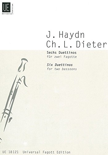 Haydn: Set of 6 Cello and Music (Bassoon Duo) Universal Inc.