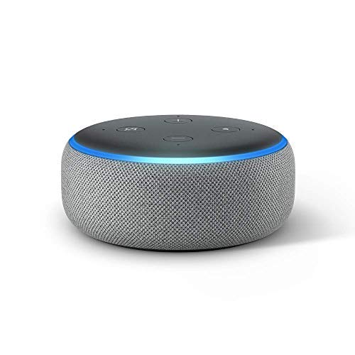 Paquete Echo Dot (3.a generación) Heather Grey con kit básico de bombilla inteligente Senged de 2 paquetes
