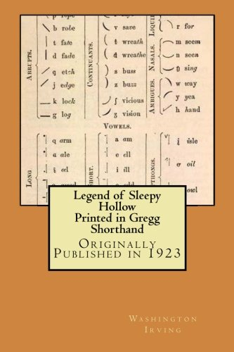 Legend of Sleepy Hollow - Printed in Gregg Shorthand
