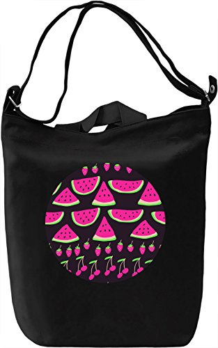 Colourful Fruits Borsa Giornaliera Canvas Canvas Day Bag| 100% Premium Cotton Canvas| DTG Printing|