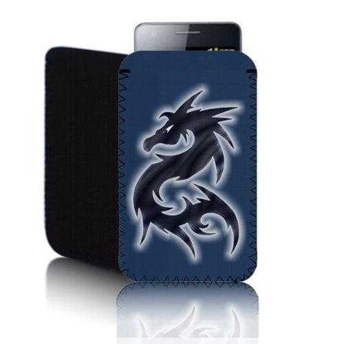 Biz-E-Bee Phonecase Exclusif 'Dragon' Bleu Huawei Ascend G300(M) résistant aux chocs en néoprène pour Téléphone portable, Housse, Pochette