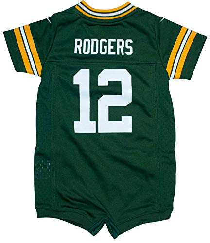Nike Aaron Rodgers Green Bay Packers Team Color Newborn Romper (6-9 Months)