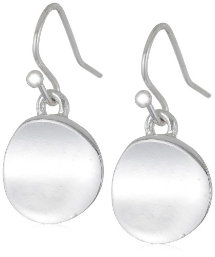 "Kenneth Cole New York ""Shiny Earrings"" Small Silver Circle Drop Earrings"