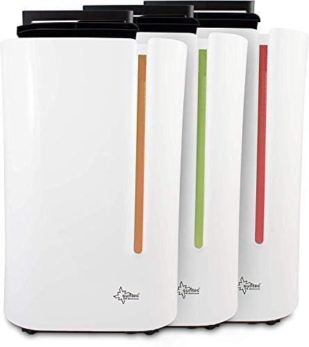 SUNTEC Déshumidificateur Electrique DryFix 20 Lumio Silencieux pour des pièces jusqu'à 150 m³ ~65 m², capacité de déshumidification=20l/jour, fonction de purification d'air, sèche linge, 370 watts