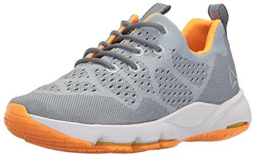 (Reebok Women's Cloudride LS DMX Walking Shoe, Gable Grey/Stonewash/White/Fire Spark, 6 M US)